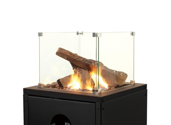 Set de 4 bûches décoratives en céramique pour chauffage d'extérieur à gaz FUEGO