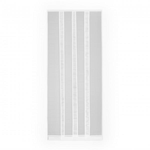 Moustiquaire 4 lamelles avec Clips pour Porte - En polyester L100 x H220 cm
